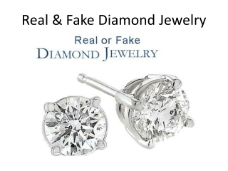 Real or Fake Diamond Jewelry