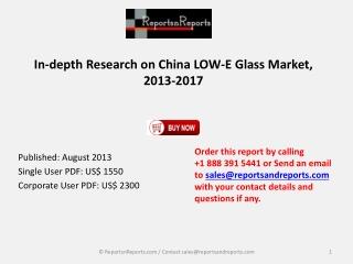 China LOW-E Glass Market 2013-2017