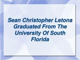 sean christopher letona - florida