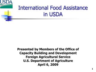 International Food Assistance  in USDA