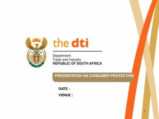 PRESENTATION ON CONSUMER PROTECTION