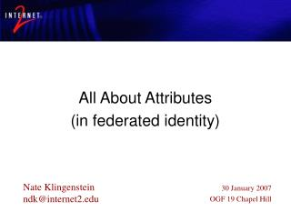 All About Attributes