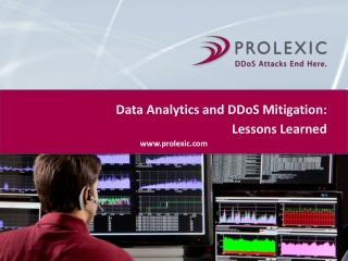 Data Analytics and DDoS Mitigation: Lessons Learned