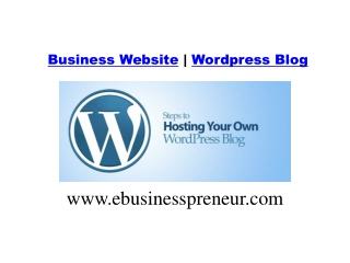 New Blog Website