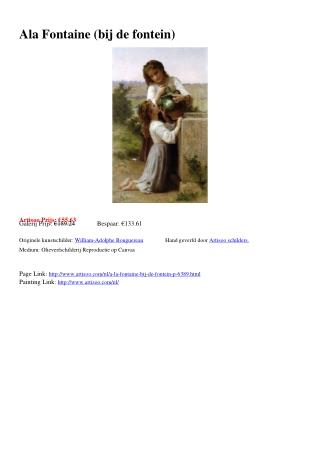 A la Fontaine (bij de fontein) - Artisoo.com