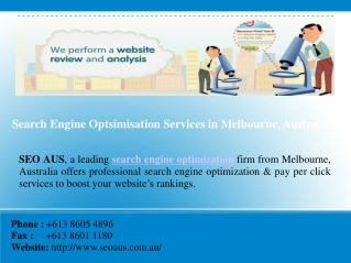 SEO Solutions Melbourne
