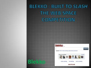 Blekko : Built To Slash The Web Space Competition