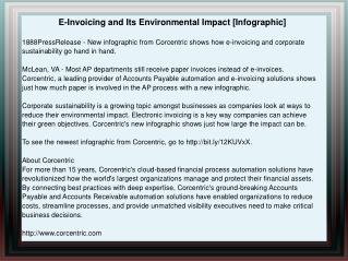 E-Invoicing and Its Environmental Impact [Infographic]