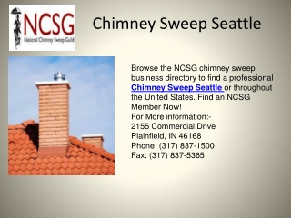 Chimney Sweep Seattle