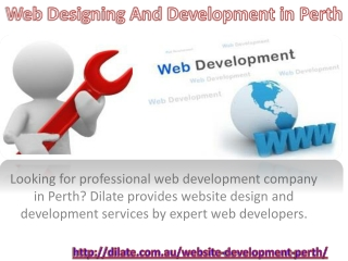 Web designing and development in perth