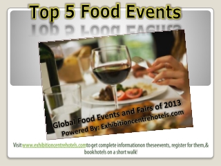 Top 10 Food Industry Events of 2013 from all Around the Worl