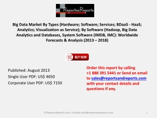 Big Data Market Analysis 2013-2018