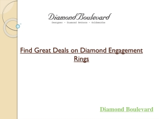 Find Great Deals on Diamond Engagement Rings