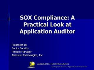 SOX Compliance: A Practical Look at Application Auditor