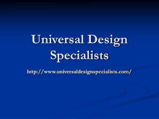 Universal Design Specialists