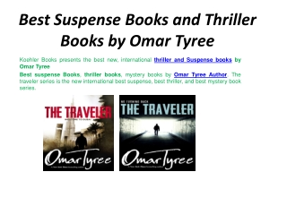 Best Suspense Books and Thriller Books by Omar Tyree