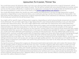 Liposuction to a Lean19