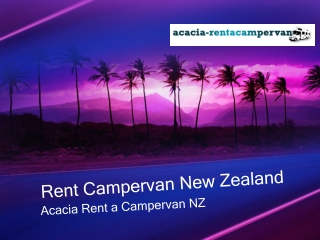 Cheap Motorhomes Hire, Campervan for Rent - Acacia Motorhome
