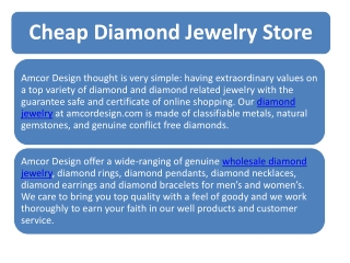 Cheap Diamond Jewelry Online