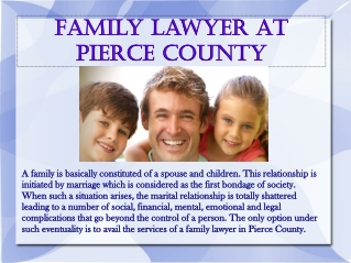 Family Lawyer at Pierce County