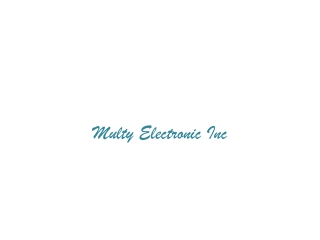 multy electronics inc