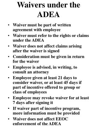 Waivers under the ADEA