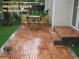 San go ngoai troi Romana - Cong trinh biet thu Ecopark