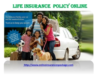 LIFE  INSURANCE  POLICY  ONLINE