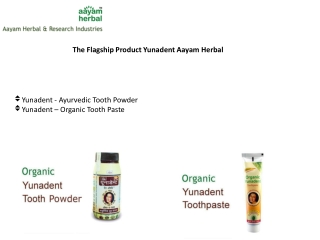 Ayurvedic Dental Products, Organic Toothpaste, Organic Tooth
