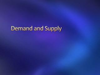 Supply-demand Assignment Help