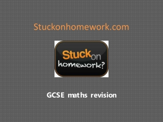 Stuckonhomework maths revision videos