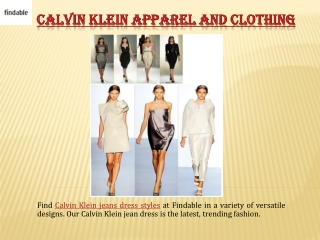 Shop Calvin Klein Jeans dresses with Findable