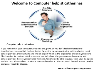 Computer help st catherines
