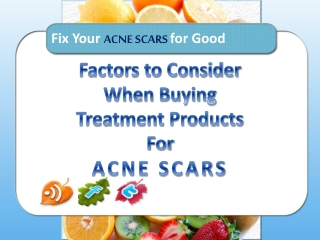 Various Treatments for Acne Scars