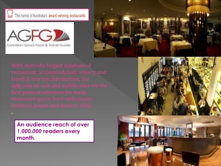 AGFG Perth Restaurant