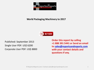 Global Packaging Machinery Market 2017