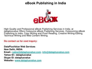 eBook Publishing in India