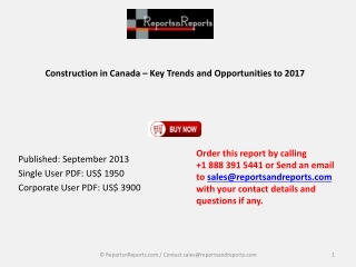 New Report Canada Construction Market Trends and Opportuniti