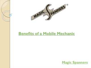 Benefits of a Mobile Mechanic