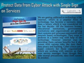 Learn How Can Protect Data from Cyber Attack with SingleSign