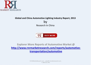 RnRMR: Global and China Automotive Lighting Industry
