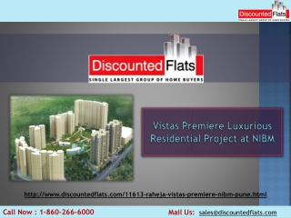 Buy your Dream Home at NIBM - Vistas Premiere