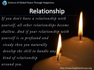 Relationship Through Happiness