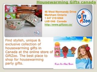 Housewarming Gifts canada