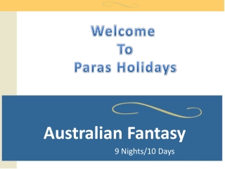 Australia Honeymoon Packages 2013
