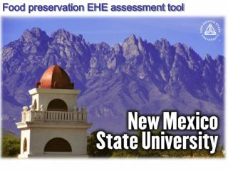 Food preservation EHE assessment tool