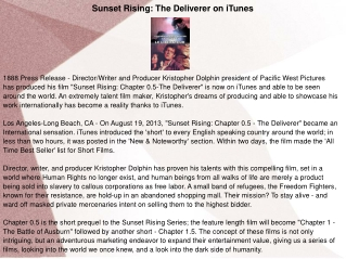 Sunset Rising: The Deliverer on iTunes