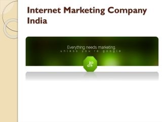 Best Internet marketing Comapny India