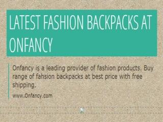 Fashion Backpacks | Denim Backpacks