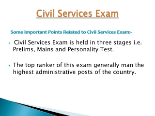 Discussion about Civil Service Exam